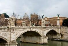река rome tiber Италии Стоковое фото RF