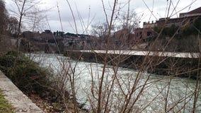 река rome tiber стоковое изображение rf