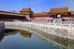 река s дворца Пекин старое Стоковые Фото