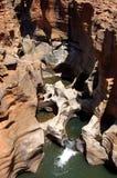 река s рытвин везения каньона bourk blyde Стоковые Изображения RF