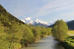 Река Salzach Стоковые Изображения