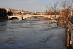 река saone lyon Стоковая Фотография RF