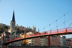 река saone quay Франции lyon Стоковая Фотография RF