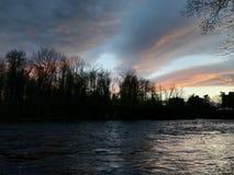 Река Saranac Стоковые Изображения RF