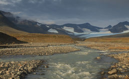 Река Sarek Стоковое фото RF