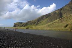 Река Skoga в южной Исландии Стоковые Фотографии RF