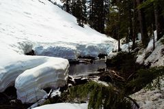 Река Snowy Стоковая Фотография RF