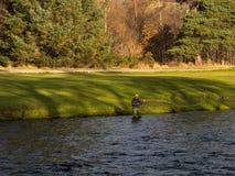 Река Spey, день открытия промыслового сезона 2014. стоковая фотография rf