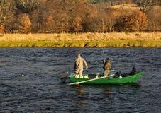 Река Spey, день открытия промыслового сезона 2014. стоковые изображения rf