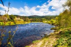 Река Spey около Rothes стоковое изображение rf
