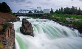 Река Spokane, штат Вашингтон стоковая фотография rf