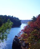 Река St Croix обозревает во время цветов падения Стоковые Изображения RF