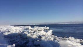 Река St Laurent в зиме стоковые фото