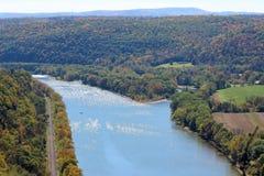Река Susquehanna и шлюпка Стоковые Фото