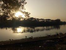 Река Sylhet Surma от Kanishail Kheoyaghat Стоковое Изображение