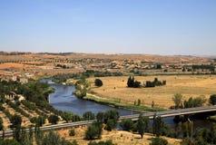 Река Tagus в Toledo, Испании Стоковое Фото