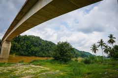Река Tembeling, Jerantut, Pahang Стоковая Фотография RF