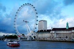 река thames london глаза города Стоковая Фотография