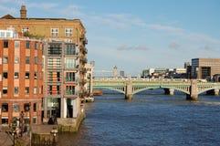 река thames london Стоковое Изображение