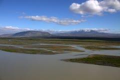 Река Thjorsa в Исландии Стоковые Изображения RF