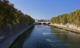 Река Tiber Стоковое Фото