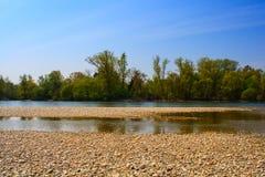 Река Ticino Стоковые Изображения