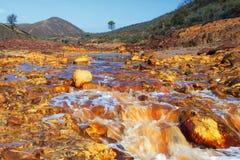 Река Tinto, Уэльва, Испания стоковая фотография rf