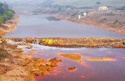 Река Tinto, Уэльва, Испания Стоковые Изображения