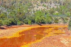Река Tinto, Уэльва, Испания Стоковые Фотографии RF