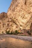 Река Todra в ущелье Todgha - Марокко Стоковое Фото