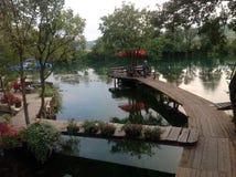 Река Una, Босния Стоковое Фото