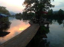 Река Una Босния Стоковая Фотография