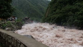 Река Urubamba сток-видео