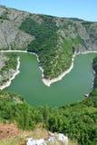 Река Uvac в Сербии Стоковые Изображения RF
