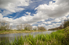 Река Venta в Латвии Стоковая Фотография RF