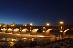 Река Venta, Kuldiga, Латвия Стоковое Изображение RF