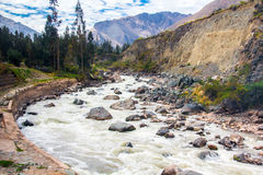 Река Vilcanota - езда поезда к Machu Picchu Стоковое Изображение