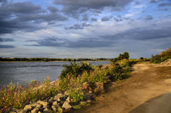 Река Waal на вечере Стоковые Изображения RF