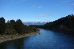 Река Waiau стоковое изображение rf