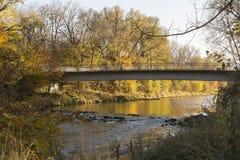 Река Wertach в Аугсбурге Стоковое фото RF
