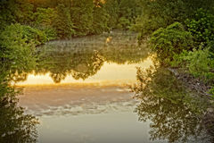 Река Whippany на зоре Стоковые Изображения