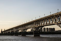 река yangtze nanjing моста Стоковые Фото
