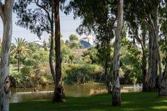 Река Yarkon в Tel Aviv Стоковая Фотография