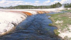 река yellowstone firehole Стоковое Фото