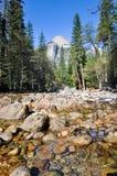 Река Yosemite в зиме Стоковое Изображение RF