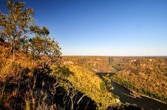 река zambezi gorge стоковое изображение rf