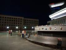 Реквием для жертв полета MH17 nighttime Стоковые Изображения