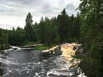Реки и озера Karelia стоковые изображения rf