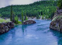 Реки, озера и океаны Аляски & Канады Стоковое Фото