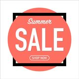 Реклама продажи лета на живя предпосылке коралла бесплатная иллюстрация